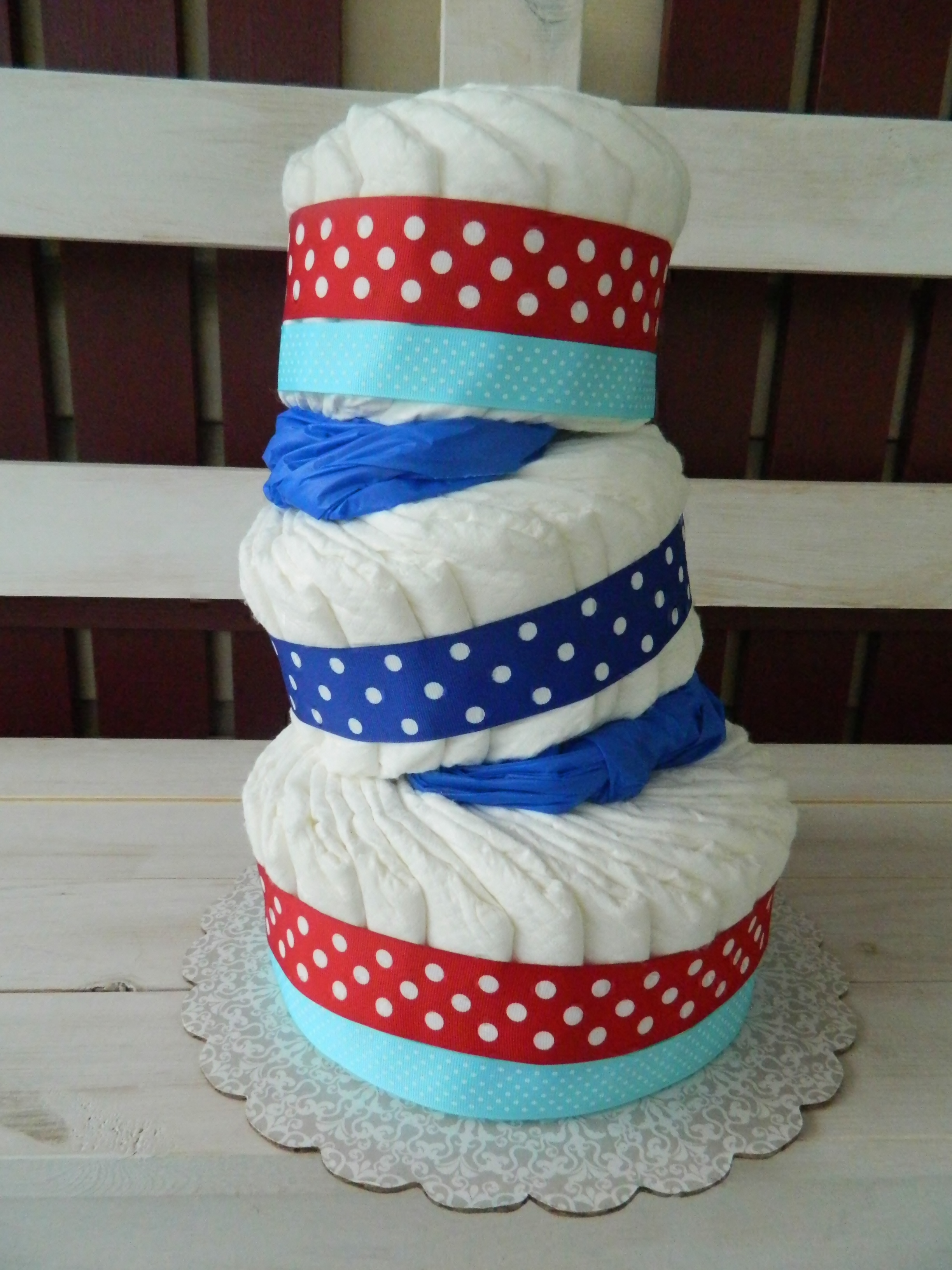 "Diaper Cake Tutorial Plus a ""Dr Seuss"" Baby Shower Update The"