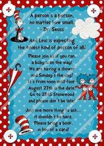 Dr Seuss Invitation