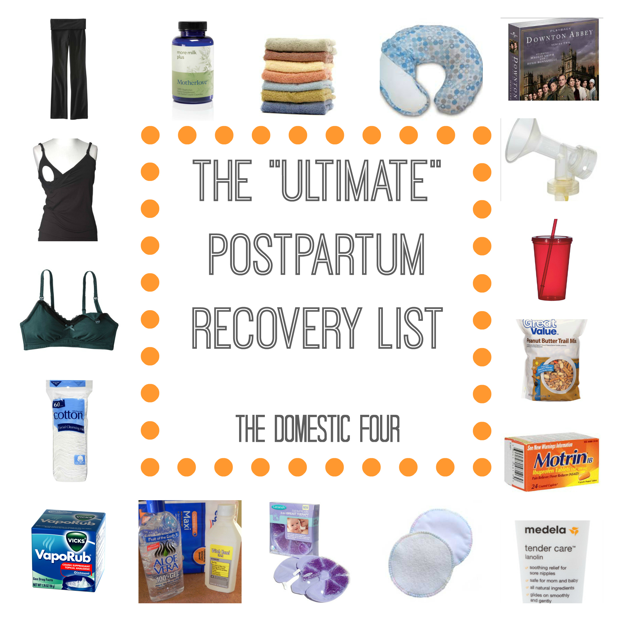 The ultimate postpartum recovery list!